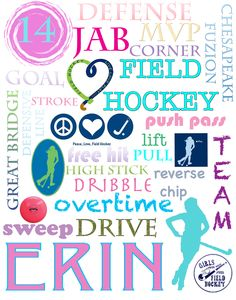 Collage that I made for my favorite field hockey player!  ~SJ Hockey Coach, Hockey Players, Coach Gifts, Team Gifts, Hockey Bedroom, Locker Decorations, Hockey Gifts, Field Hockey, Girls Be Like