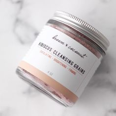 Pretty in pink! Our hibiscus cleansing grains provide gentle exfoliation while removing dead skin cells and build up. Made with 3 simple ingredients: ground oats brown rice flour and hibiscus flower powder. Mix with water cleanser or honey. #cleansinggrains #hibiscus #exfoliate #organic #organicskincare #nontoxicbeauty #organicbeauty #natural #skincare #shop #greenbeauty #greenliving by brownandcoconut