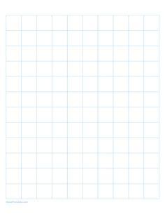 Printable 2 cm Light Blue Graph Paper for Letter Paper Masha And The Bear, Graph Paper, Printable Paper, Free Printables, Grid, Light Blue, Templates, Lettering, Color