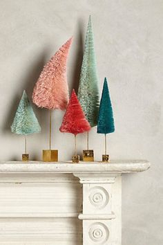 Isn't this an adorable collection from Anthropologie a few years back? I still love the quirkiness of this holiday vignette!