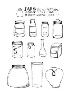 Sweetly Scrapped: *FREE* Hand Drawn Mason Jar Clipart