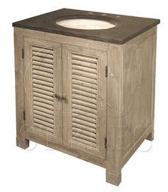 Bathroom Vanity Cabinet #Island #Caribbean Styled #Reclaimed Woods @gop Stone Top