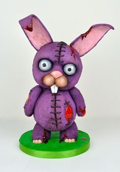 Creepy Halloween Bunny Cake by Melissa Alt Cakes Cakes By Melissa, Sculpted Cakes, Creepy Halloween, Custom Cakes, Cake Art, Yoshi, Wedding Cakes, Bunny, Artwork