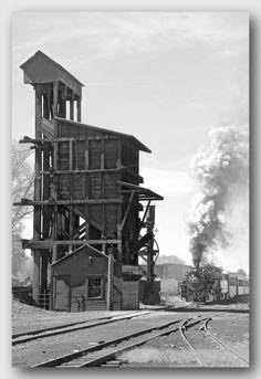 Coaling dock at Chama, New Mexico