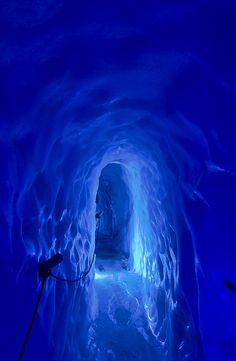 Blue❤✿« Hintertux Glacier - Ice Cave - Eispalast