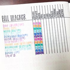 Still unsure about using a #habittracker, but decided to try a bill tracker bc I always forget what is auto-deducted on what day or due on what…