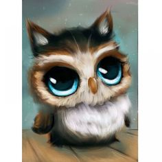 Diamond painting ᗐ Owl embroidery Lovely animal ( ^ ^)っ crystal cross-stitch needlework Home Decoration wall sticker HOT! Diamond painting Owl embroidery Lovely animal crystal cross-stitch needlework Home Decoration wall sticker Baby Owls, Baby Animals, Cute Animals, Cute Drawings, Animal Drawings, Drawing Animals, Owl Drawings, Cartoon Cartoon, Cute Owl Cartoon
