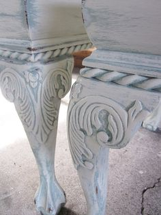 Annie Sloan chalk paint....have to try this...love the look/color
