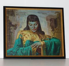 Vintage Large Framed Print Lady from Orient by by DesignSoldier, $275.00