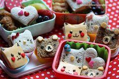 Cute lil' sandwiches made f/ simple cutter