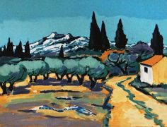 Paesaggio Fascino provenzale Jean-Claude di MarieArtCollection #etsyspecialt #integritytt