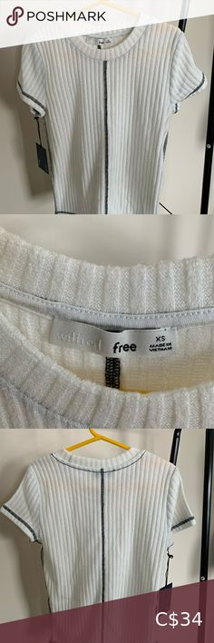 WILFRED FREE sweater shirt sleeve top New with tags crew neck tshirt with exposed contrasting seams. Made with Wilfred Free's signature repost fabric, a soft jersey knit. S Signature, Plus Fashion, Fashion Tips, Fashion Trends, Sweater Shirt, Shirt Sleeves, Top Colour, Crew Neck, Tags
