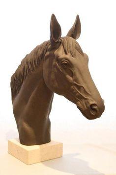 Black Stoneware #sculpture by #sculptor Martin Duffy titled: 'Zola - Black Stoneware'. #MartinDuffy
