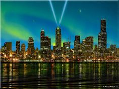 The Northern Lights over Seattle in 2012!