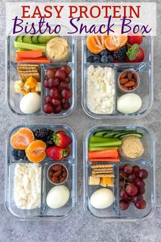 A super simple, quick and delicious meal option that is perfect for a post-workout snack, for lunches, or if you live a life on the go and need healthy options at your fingertips! Comes together in… snacks meal prep Easy Protein Bistro Snack Box Snack Boxes Healthy, Healthy Snacks To Buy, Healthy Meal Prep, Clean Eating Snacks, Healthy Drinks, Healthy Dinner Recipes, Healthy Eating, Healthy Options, Healthy Food