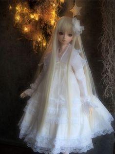 VisuaDoll Sora Basic Dress Coordination Set White 50cm Obitsu body Japan #VisuaDoll #DollswithClothingAccessories