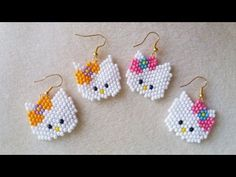 COMO HACER HELLO KITTY A PEYOTE - YouTube