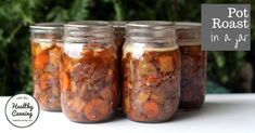 Beef pot roast in a jar - Healthy Canning Canning Soup Recipes, Canning Tips, Canned Meat, Canned Food Storage, Canned Foods, Pressure Canning Meat, Pressure Cooking, Canning Food Preservation, Preserving Food
