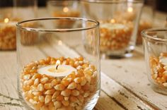 Thanksgiving Corn Candle - Fun Holiday #Craft #DIY #fall