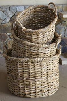 Hatteras Rattan Baskets from Soft Surroundings...these baskets are great for storage or just as a decorative accent!