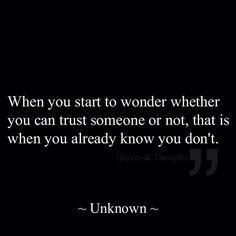 when you start to wonder wheather...