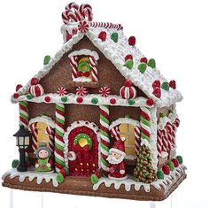 Details about Kurt Adler Christmas Camper RV Mobile Home Gingerbread House LED New 2019 - {hashtag} - Gingerbread Village, Christmas Gingerbread House, Christmas Cookies, Peppermint Sticks, Peppermint Candy, Christmas Time, Xmas, Candy House, Christmas Decorations