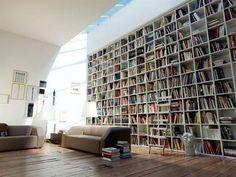 7 space-saving bookshelf ideas, via Yahoo homes
