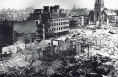 Rotterdam: De Hoogstraat 1940 May 14th. ...Germans hit the city and his people. WHY?????