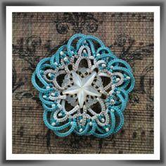 The Piney Woods Tatter Needle Tatting, Tatting Lace, Tatting Earrings, Crochet Earrings, Crochet Flowers, Crochet Lace, Yarn Crafts, Diy Crafts, Tatting Patterns