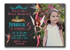 Pirate Fairy Invitation Pirate Fairy Birthday by PrintablesToYou
