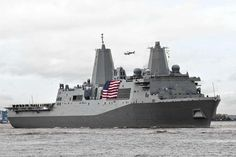 The USS New York is seen in the Hudson River upon its arrival in New York last fall.