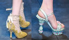 Fashion Week Shoes: Dolce & Gabbana Fall 2012. Very runway