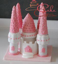topper castello in pasta di zucchero