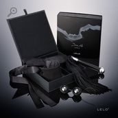Dare to explore your ultimate fantasies with this most sensual pleasure set by LELO. Including the soft-tasseled Sensua Suede Whip and Etherea Silk Cuffs, you can bring an exciting new dimension to foreplay with Luna Beads™ Noir, a seductive take on LELO's bestselling Ben Wa balls for sensations previously only ever dreamt of. #$100.00 plus tax