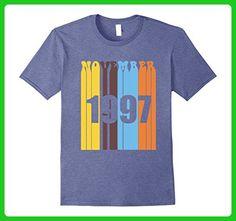 Mens Groovy Retro November 1997 Birthday T-Shirt 2XL Heather Blue - Retro shirts (*Amazon Partner-Link)