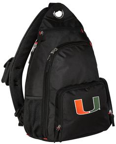 University of Miami Backpack Single Strap Miami Canes Sling Backpack ** You can get additional details at the image link. (This is an Amazon Affiliate link and I receive a commission for the sales)