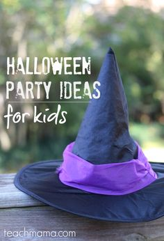 halloween party ideas for kids and classrooms - teach mama Halloween Class Party, Halloween Words, Halloween Activities, Halloween Treats, Fall Halloween, Halloween Games, Fun Activities, Happy Halloween, Party Ideas