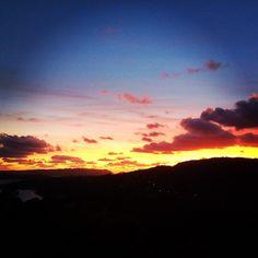 Amazing sunset at Laingholm