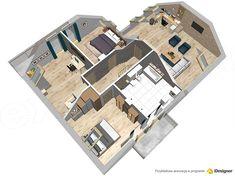 Projekt domu Alion 2M 136,79 m2 - koszt budowy - EXTRADOM Architecture Design, Floor Plans, Architecture Layout, Floor Plan Drawing, Architecture, House Floor Plans
