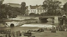 Islandsbron, 1860-talet. Uppsala, Sweden, Painting, Art, Art Background, Painting Art, Paintings, Kunst, Drawings