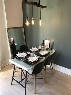 Bilderesultater for jotun balanse Interior Inspiration, Design Inspiration, Green Interior Design, Green Marble, Room Colors, Master Bedroom, Sweet Home, Dining Table, House Design