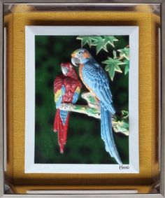 Parakeet - 3D Porcelain Painting Parakeet, Parrot, Porcelain, Hands, Bird, Painting, Animals, Parrot Bird, Porcelain Ceramics