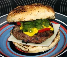 Barbecued Olive and Pesto Burgers. Photo by Boomette