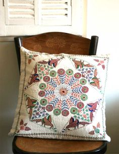 nakshi kantha cushion http://www.inbangladesh.it/blog/nakshi-kantha/
