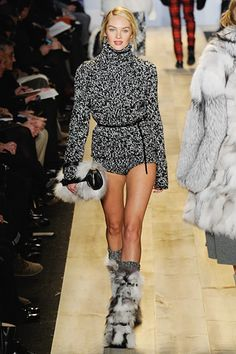 Sweet Sweatered Snow Bunny. Love the Clutch TOO. Michael Kors Fall 2012 @ NYFW. Must have!!