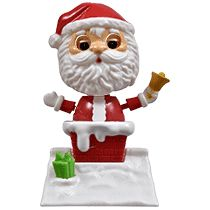 Purposeful New Dancing Solar Powered Character Santa Eye Move Up Down With Own Solar Panel Electronic, Battery & Wind-up
