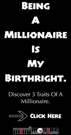 3 Millionaire Traits that you should adopt TODAY! #millionaire #wealth #success