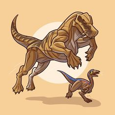 """We have another Permian beastie for Day 21 of Today we have """"Fang"""" the Lycaenops (a carnivorous therapsid), pouncing upon an ill-fated Gallimimus hatchling. Both of these figures comes from Series 2 of Kenner's JP toyline. Dinosaur Sketch, Dinosaur Drawing, Dinosaur Art, Lego Jurassic, Jurassic World Dinosaurs, Jurassic Park World, Fantasy Creatures, Mythical Creatures, Comic Maker"""