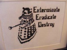Dalek crossstitch pattern Doctor Who by hardcorestitchcorps, $4.00