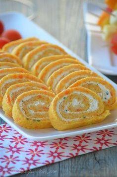 Roulé aux carottes, fromage frais et ciboulette - Le blog de C'est Nathalie qui cuisine